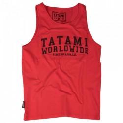Tílko TATAMI Fightwear Worldwide Jiu-Jitsu - červené
