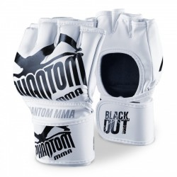 "PHANTOM MMA RUKAVICE ""Blackout PU"" - bílo/černé"