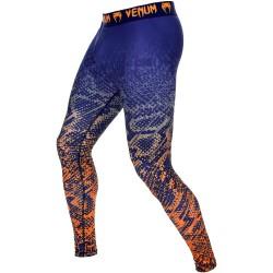 Pánské legíny Venum Tropical - modro/oranžové